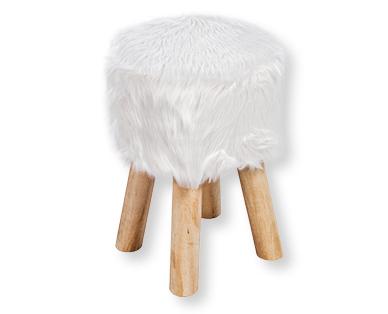 Sgabello rivestito in pelliccia my living style aldi u svizzera