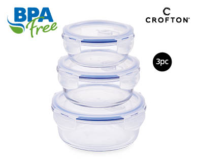 Glass Storage Containers 3pc Set