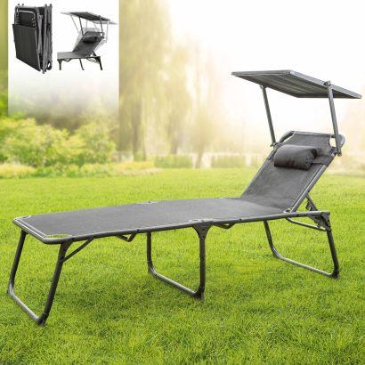chaise longue avec pare soleil aldi belgique archive des offres promotionnelles. Black Bedroom Furniture Sets. Home Design Ideas
