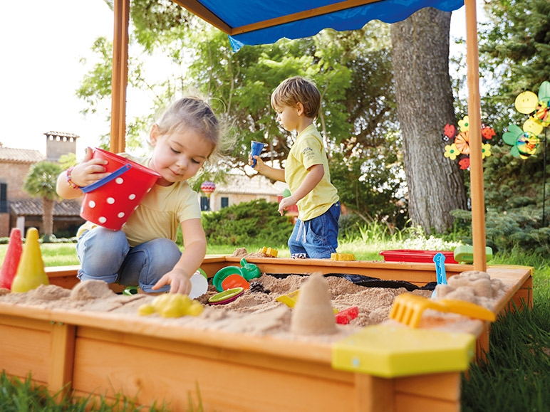 Playtive Junior Sandpit With Roof Lidl Great Britain