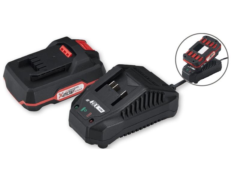 Parkside r 20v li ion battery pack rapid charger lidl - Batterie parkside 20v ...