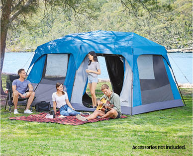 premium selection 2f8e0 8631a 10 Person Instant Up Tent with Built-in Lights and Night ...