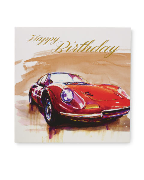 2 Pack Birthday Card Cars Aldi Great Britain Specials Archive