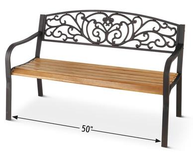 Fantastic Gardenline Outdoor Garden Bench Aldi Usa Specials Archive Ibusinesslaw Wood Chair Design Ideas Ibusinesslaworg