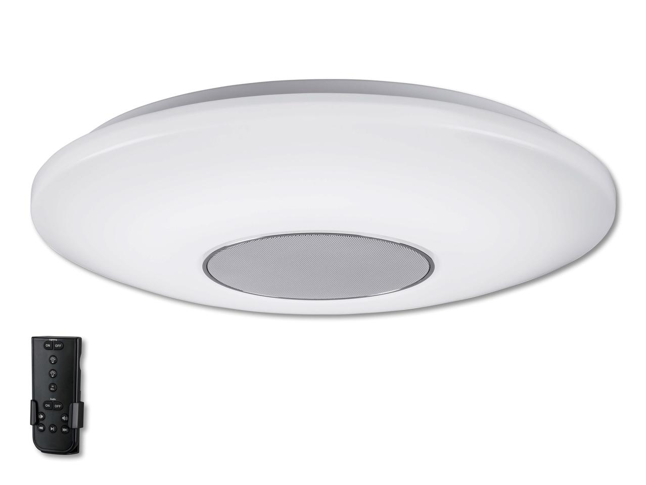 Lampada da soffitto a led con altoparlante bluetooth r lidl