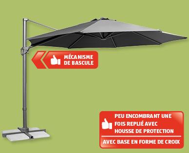 parasol suspendu en aluminium gardenline r aldi suisse archive des offres promotionnelles. Black Bedroom Furniture Sets. Home Design Ideas