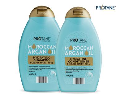 Moroccan Argan Oil Shampoo Or Conditioner 400ml Aldi