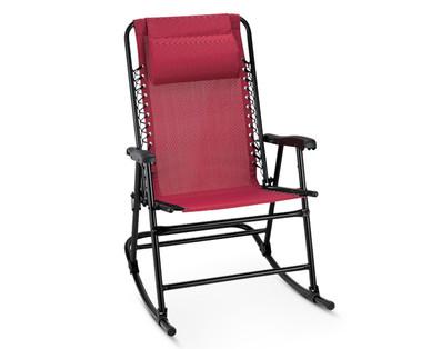 Incredible Gardenline Folding Rocking Chair Aldi Usa Specials Archive Creativecarmelina Interior Chair Design Creativecarmelinacom