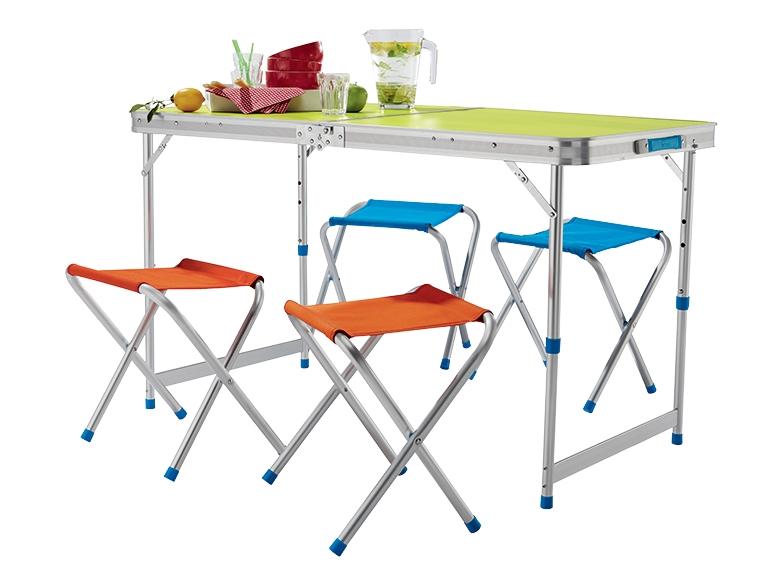 Table pliable avec 4 tabourets lidl france archive for Table pliante avec banc