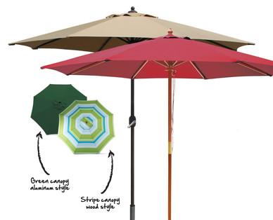 Gardenline 9 Aluminum Or Wood Market Umbrella