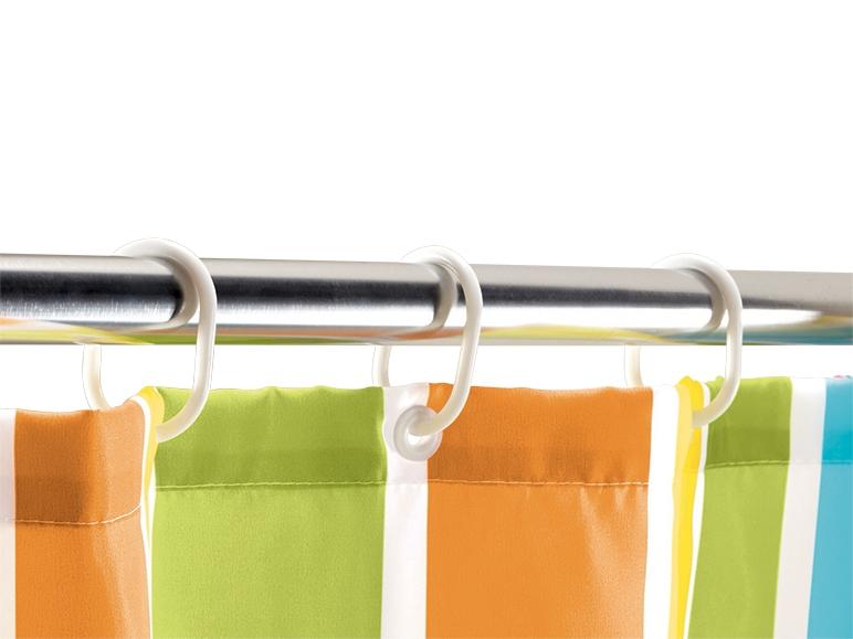 Rideau de douche avec anneaux lidl france archive des offres promotionnelles - Rideau de douche lavable en machine ...