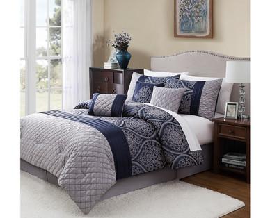 Huntington Home Queen Or King 7 Piece Bedding Set