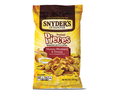 Snyder's of Hanover Hot Buffalo Wing or Honey Mustard & Onion Pretzel Pieces