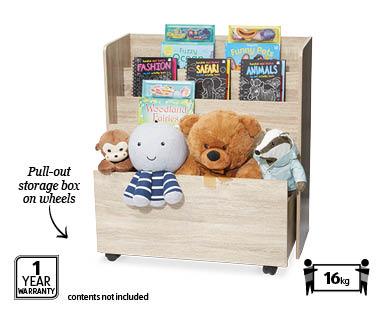 Kids Bookshelf With Toy Box