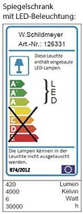 living style Spiegelschrank mit LED-Beleuchtung - Aldi Süd ...