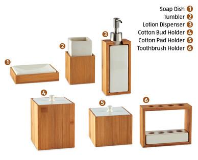 Bathroom Accessories Bamboo bamboo bathroom accessories† - aldi — great britain - specials archive
