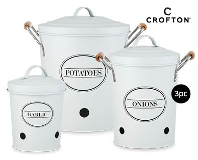 Vegetable Canisters 3pc Set