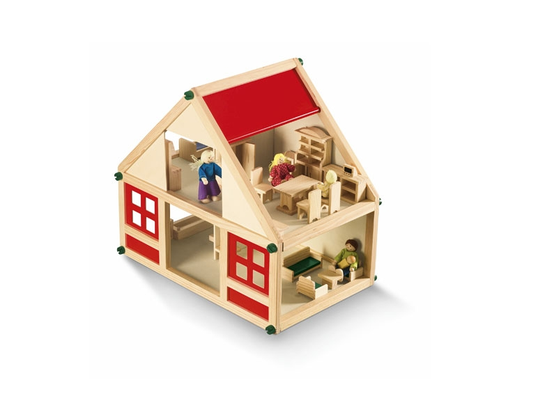 ideas for family photo props - PLAYTIVE JUNIOR Wooden Farmhouse or Doll s House Set