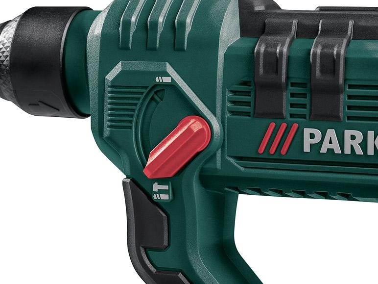Parkside 20v li ion cordless hammer drill lidl great for Batteria parkside 20v