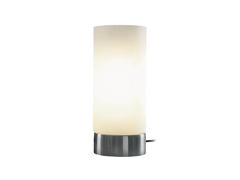 Lampe poser tactile avec abat jour en verre lidl - Abat jour pour lampe de sol ...