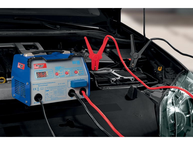Car battery charger with jump start function for cars and for Caricabatterie lidl