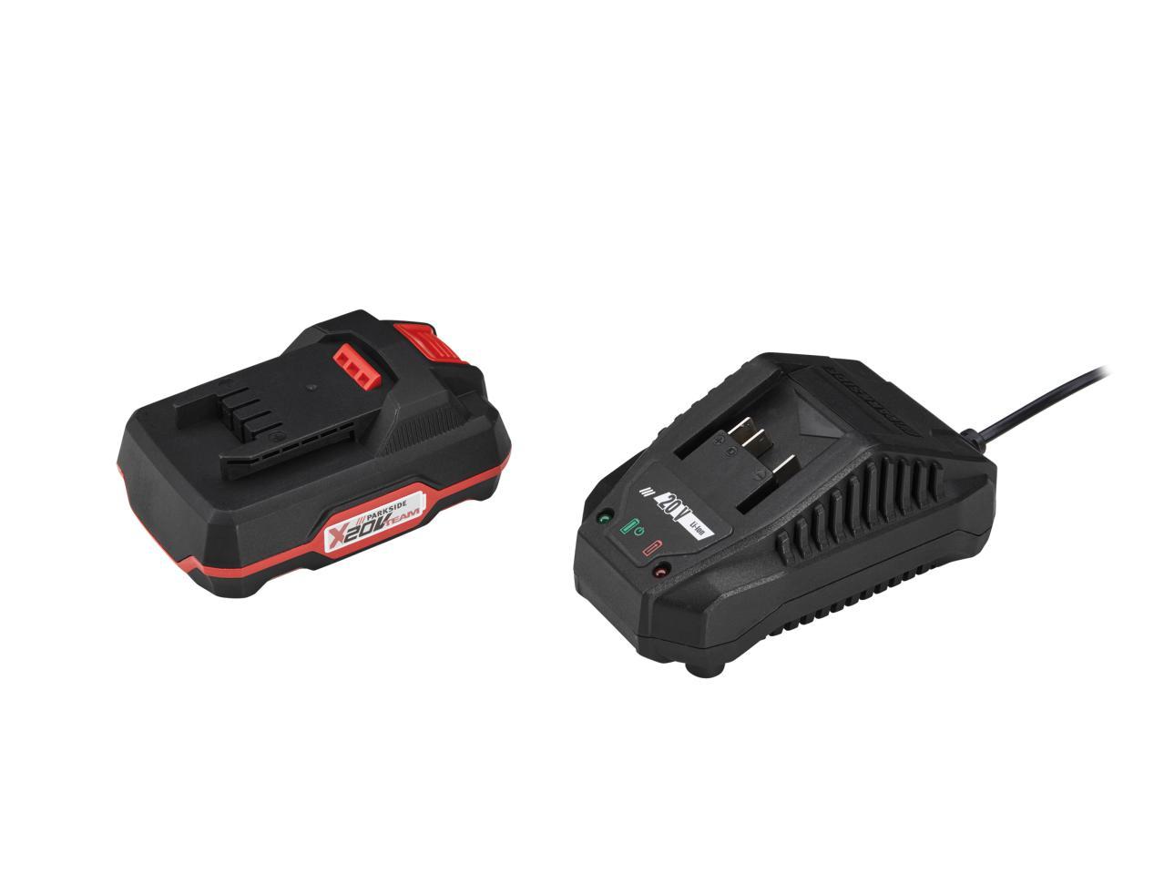 Parkside 20v li ion battery charger1 lidl great - Batterie parkside 20v ...