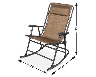 Astonishing Gardenline Folding Rocking Chair Aldi Usa Specials Archive Creativecarmelina Interior Chair Design Creativecarmelinacom