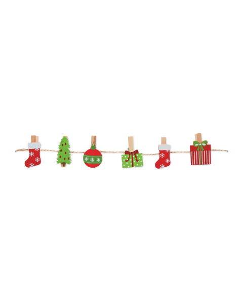 Christmas Peg Card Holders With Cord