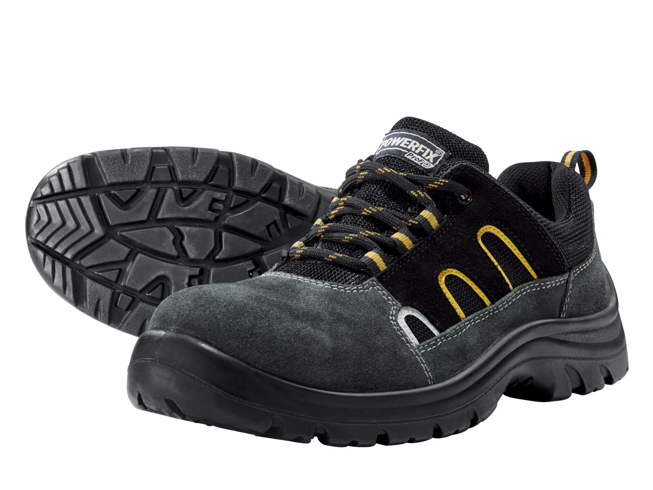 POWERFIX Men's Leather S3 Safety Boots