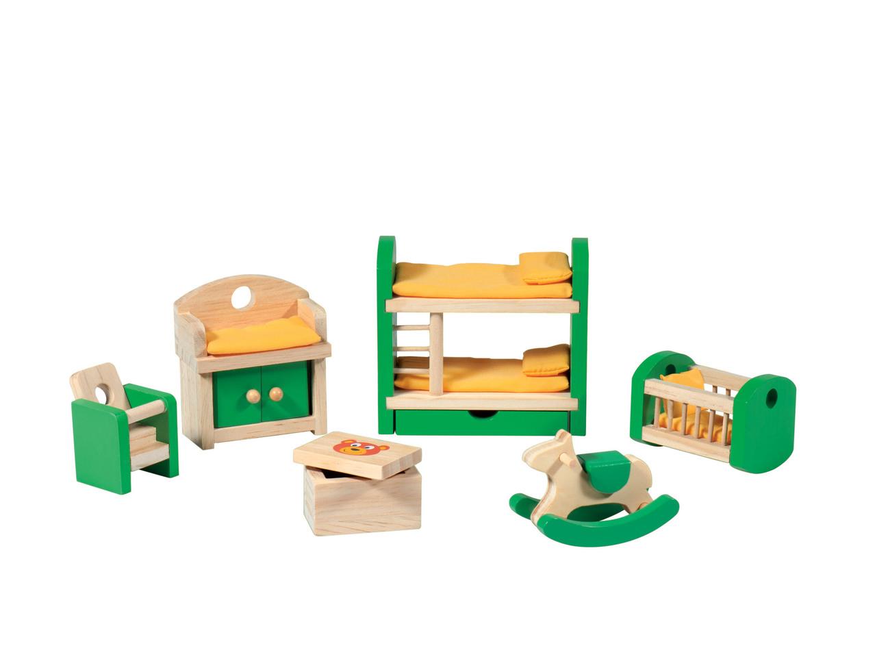 Set mobili in miniatura personaggi casa bambole lidl for Mobili 13 casa