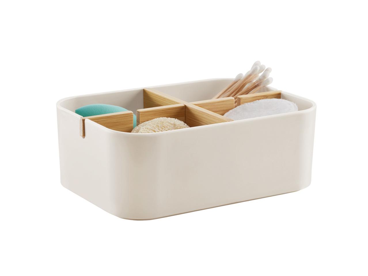 boîte de rangement pour salle de bains en bambou - lidl — france