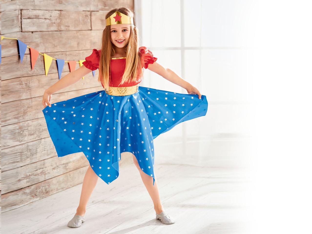 Costumi Halloween 2019 Lidl.Girls Carnival Costume Batgirl Wonderwoman Supergirl Lidl
