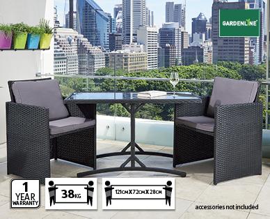 wicker balcony set 3pc aldi australia specials archive. Black Bedroom Furniture Sets. Home Design Ideas