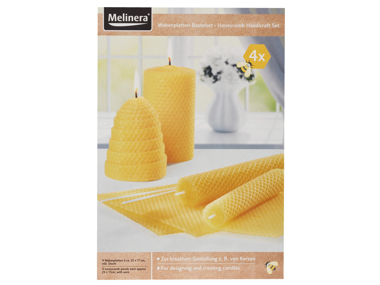 MELINERA Beeswax Candles
