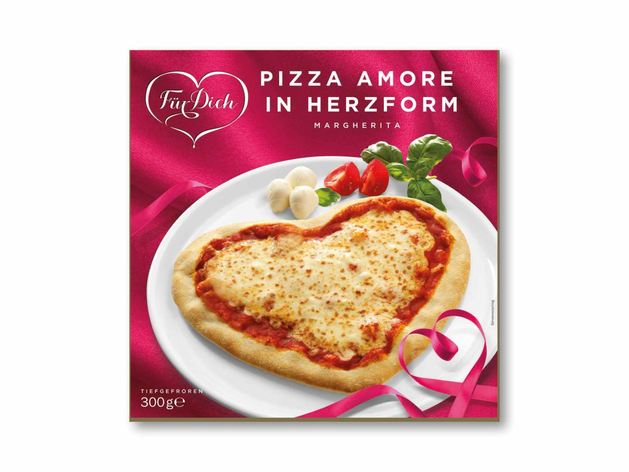 Pizza amore a forma di cuore