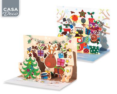 Weihnachtskarten Aldi Süd.Casa Deco Weihnachtskarten 3 Stück Aldi Süd Deutschland