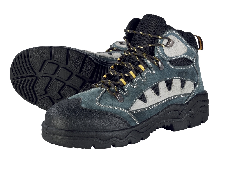 What Is Leather Made Of >> POWERFIX Men's Leather Safety Boots or Shoes - Lidl — Great Britain - Specials archive
