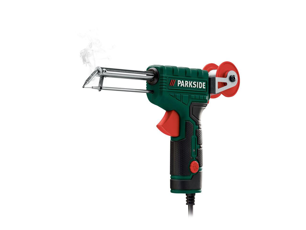 Saldatore a pistola con avanzamento automatico dello for Pistola pneumatica parkside