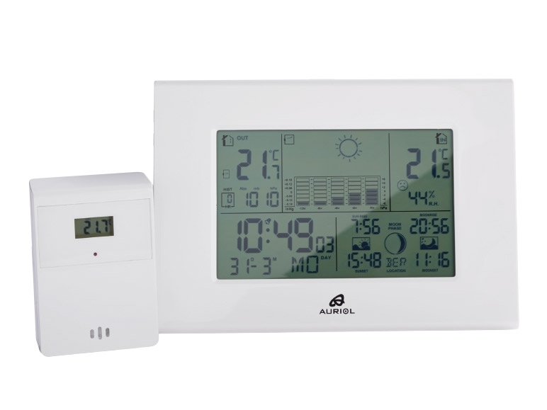 Auriol Radio Controlled Weather Station Lidl Great