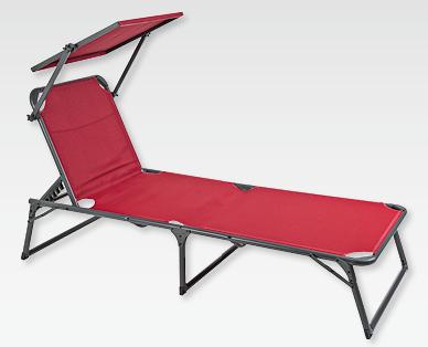 chaise longue trois pieds avec pare soleil gardenline r aldi suisse archive des offres. Black Bedroom Furniture Sets. Home Design Ideas
