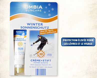 Protection solaire spécial hiver OMBIA SUNCARE