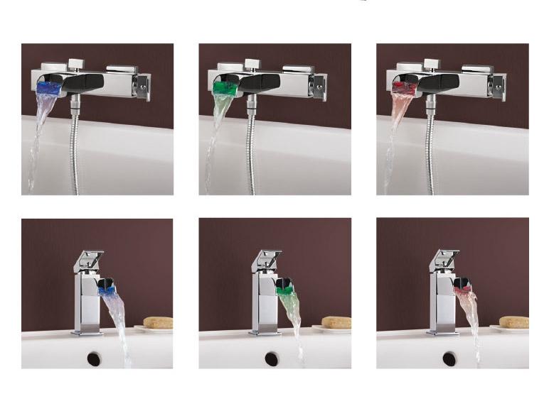 Robinetterie led de baignoire de lavabo lidl suisse for Baignoire lavabo integre