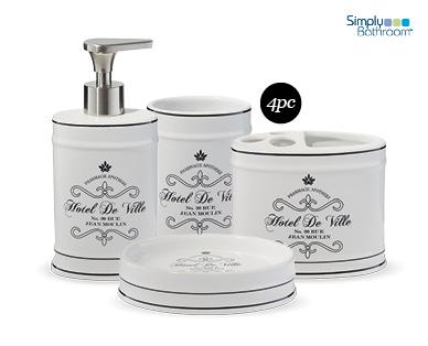 Bathroom accessories set 4pc aldi australia specials for Bathroom accessories australia
