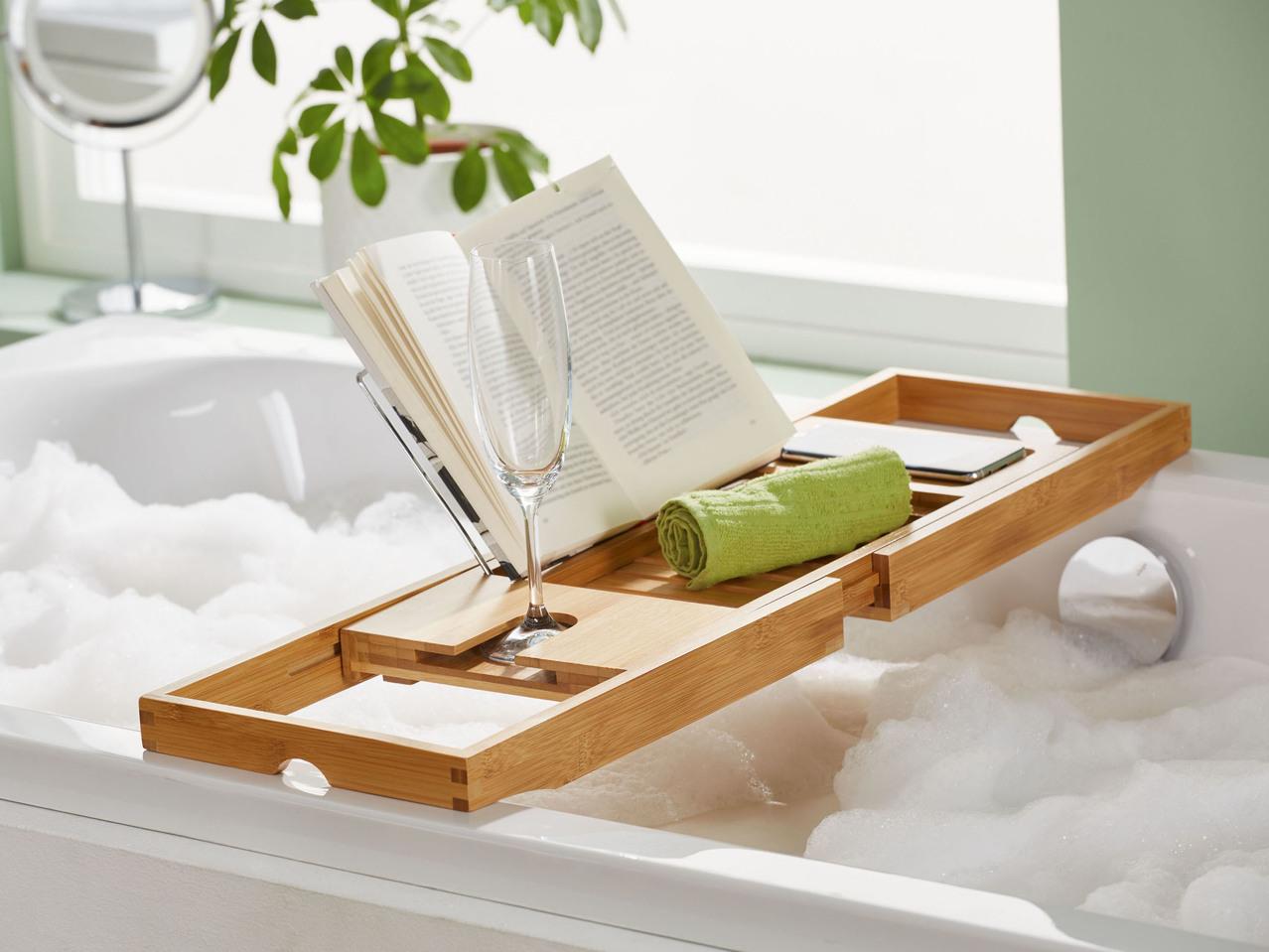 Vassoio Vasca Da Bagno : Vassoio allungabile per vasca da bagno lidl u italia archivio