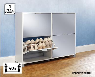 Mirrored Shoe Cabinet ...