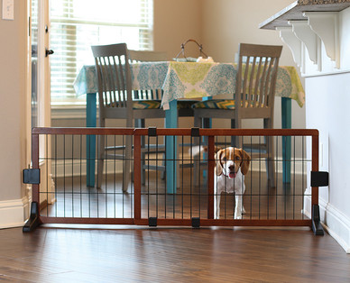 Heart To Tail Freestanding Wooden Pet Gate Aldi Usa Specials