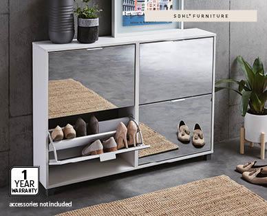 Mirrored Shoe Cabinet - Aldi — Australia - Specials archive