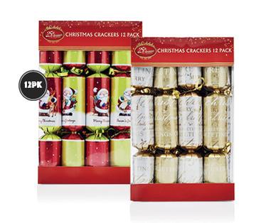 christmas crackers 12pk