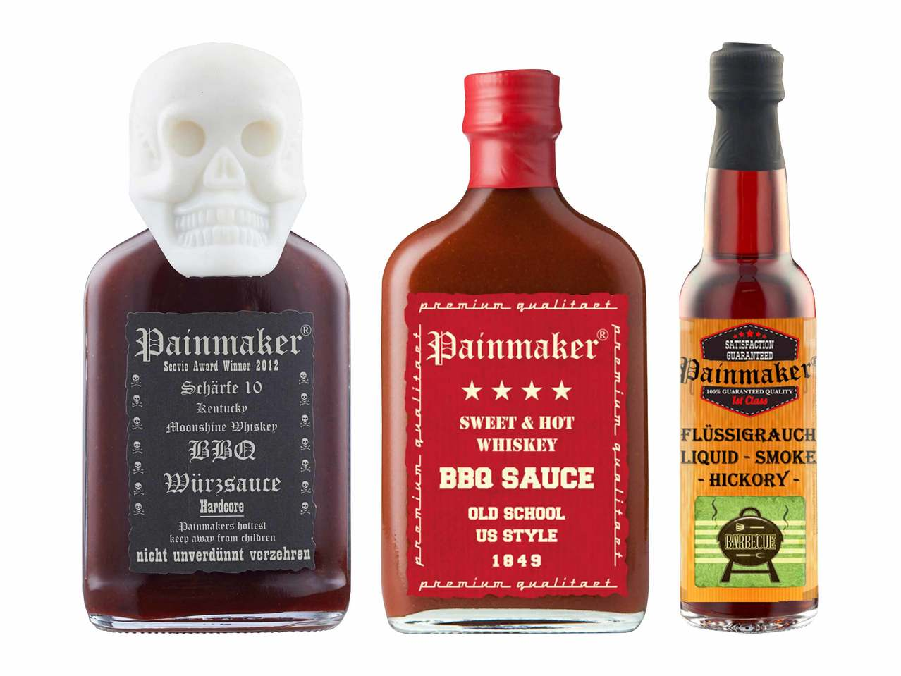 Painmaker Sauce barbecue Hardcore/ 1849 US Style/ fumée liquide Hickory