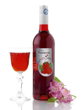 vin rouge framboise